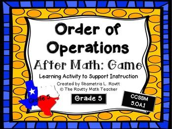 Order of Operations: File Folder Game