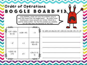 Order of Operations Game – Distance Learning
