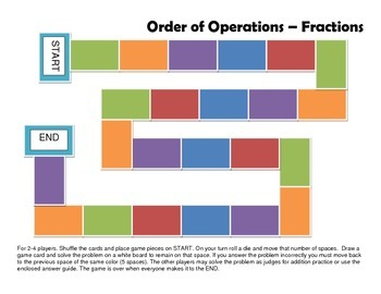 Order of Operations Game Board Bundle - 5th Grade Common Core Math