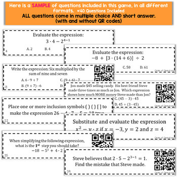 Order of Operations Game | Evaluating Expressions Game