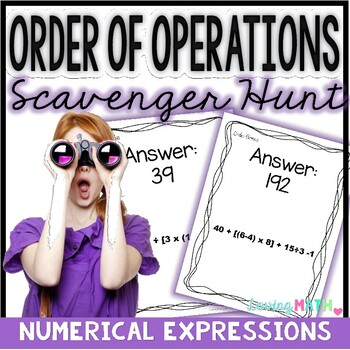 Order of Operations Game | Numerical Expressions