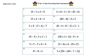 Order of Operations Games