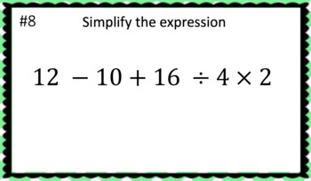 Order of Operations (Google Form & Interactive Video Lesson!)