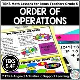 Order of Operations   TEKS Math Activities Math Practice