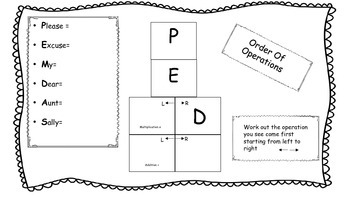 Order of Operations Graphic Organizer