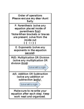 Order of Operations Guide