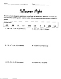 Order of Operations Halloween Color by Numbers
