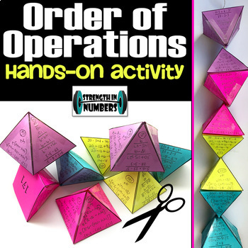 Order of Operations Hands-On Self-Checking Activity for Display