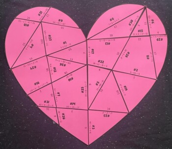 Order of Operations (Heart-Shaped Puzzle/ Valentine's Day Activity)
