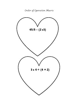 Order of Operations Hearts
