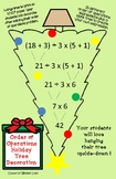 Order of Operations Holiday Tree Craft