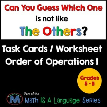 Order of Operations I - Can you guess which one? - print version