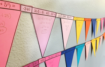 Order of Operations (Integers) Whole Class Banner/Flags/Garland