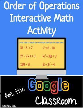 Order of Operations Interactive Google Slide Distance Learning