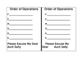 Order of Operations Interactive Journal Page
