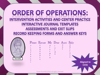 Order of Operations Interactive Journal and Task Cards