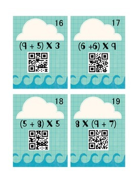 Order of Operations: Interactive Notebook & QR Codes