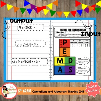 Order of Operations Interactive Notebook (5.OA.1.1 , 5.OA.A.1)