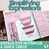 Order of Operations Interactive Notebook Activity & Quick Check TEKS 5.4E/5.4F