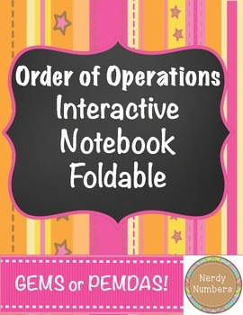 Order of Operations Interactive Notebook Foldable