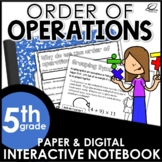 Order of Operations Interactive Notebook Set | Distance Learning