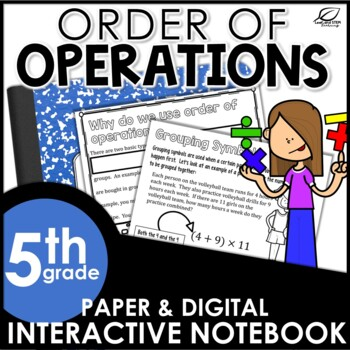 Order of Operations Interactive Notebook Set