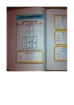 Order of Operations Interactive Notebook and Powerpoint
