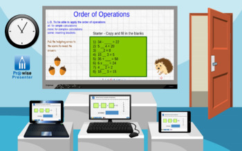Order of Operations - Interactive Whiteboard Lesson
