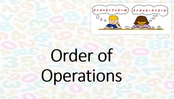 Order of Operations Introduction - PowerPoint & Worksheets
