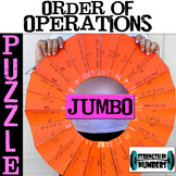 Order of Operations JUMBO Cooperative Puzzle for Display