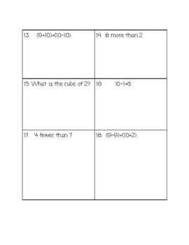 Order of Operations Jenga Task Cards