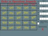 Order of Operations Jeopardy - Smartboard