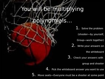 Multiplying Polynomials Review Game