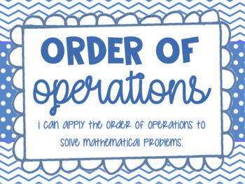 Order of Operations Lesson Bundle