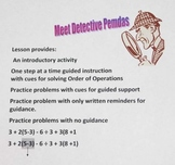 Order of Operations Lesson Plan with Detective Pemdas