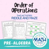 Order of Operations: Line Puzzle Activity