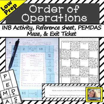 Order of Operations Loop Cards