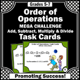 Order of Operations Task Cards with Parenthesis, 5th Grade Math Review