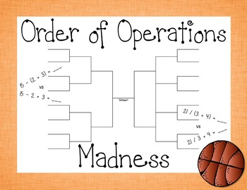Order of Operations Madness: Order of Operations with Bask