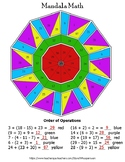 Order of Operations Mandala Math Color by Number