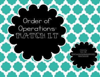 Order of Operations Match It