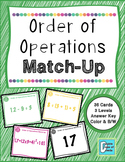 Order of Operations Matching Activity Game