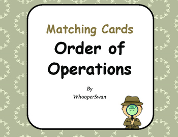 Order of Operations - Matching Cards