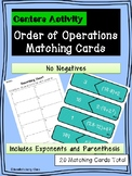 Order of Operations Matching Cards