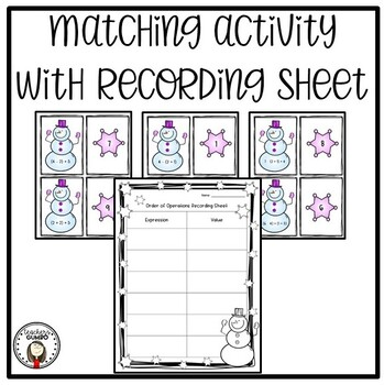 Order of Operations Matching and Worksheets