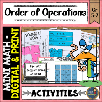 Order of Operations Math Activities Google Slides and Printable