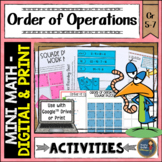 Order of Operations Math Activities Puzzles and Riddle