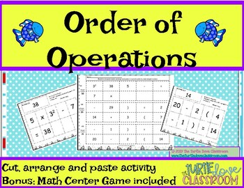 Order of Operations Math Center Game