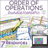 Order of Operations Math Center Resources