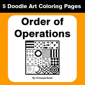 Order of Operations - Math Coloring Pages   Doodle Art Math